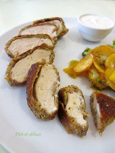 Filets de poulet en croûte d'herbes