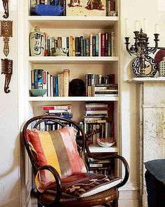 he home of textile designer Sally Campbell. London House, Living Spaces, Living Room, Book Tattoo, Book Shelves, New Room, Textile Design, Sally, Bookcase