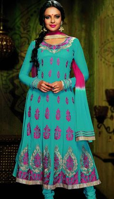 Indian suits sets hold a important place in the Indian fashion industry, and accounts as the second most worn attire by girls and women of India. Groom your appearance and look like a fashion diva with the trendy and stylish Indian anarkali suit that adds natural grace and simplicity to women beauty.