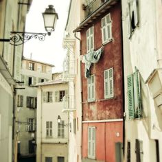 French Street Photograph  Colorful buildings by LupenGrainne, $30.00 (emailed about printing for wallpaper)