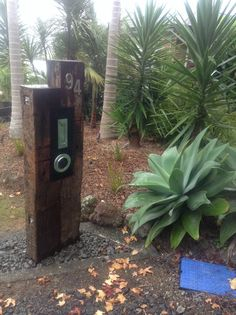 Railway sleeper letterbox has my number on it Garden Design Ideas Uk, Garden Inspiration, Garden Ideas, Rustic Gardens, Outdoor Gardens, Railway Sleepers, Water Features In The Garden, Cactus Y Suculentas, Front Yard Landscaping