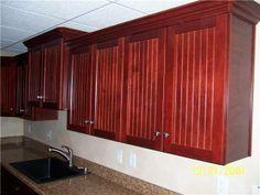 Beadboard cabinet doors on pinterest custom cabinet for Board and batten kitchen cabinets