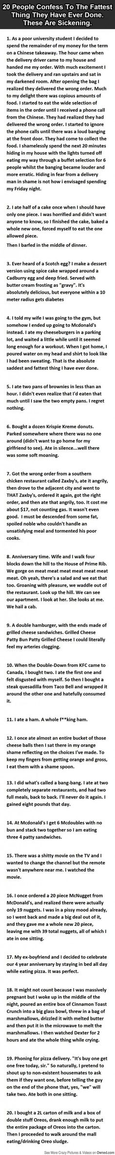 20 Stories from Fat People