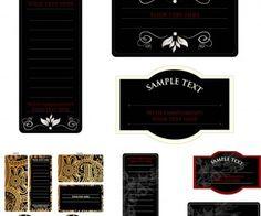 Black invitation cards vector