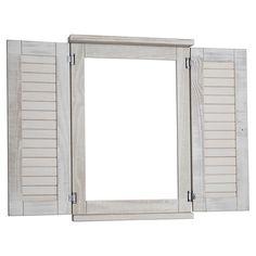 Jalousie Miroir fenêtre finition pin brossé