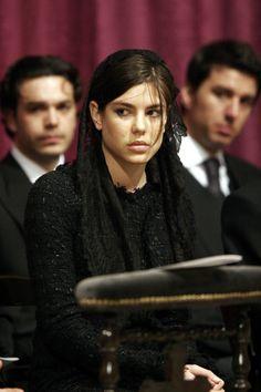 Charlotte Casiraghi - Funeral Of Monaco's Prince Rainier III - Inside Service