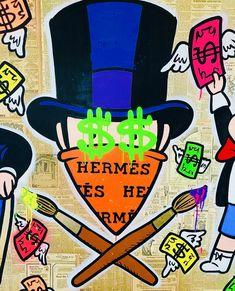 Graffiti Designs, Graffiti Art, Collages, Cartoon Painting, Diy Artwork, Hip Hop Art, Colorful Wall Art, Dope Art, Street Artists