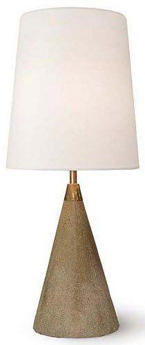 Regina Andrew Design 4-150 Contemporary Concrete and Brass Mini Cone Table Lamp RAD-4-150