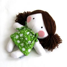 Soft cloth fabric rag doll I'm making this out of old muslin hop bags!
