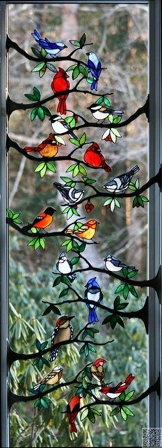 13. #Stained Glass #Birds - 43 Examples of Gorgeous Stained #Glass ... #Gorgeous