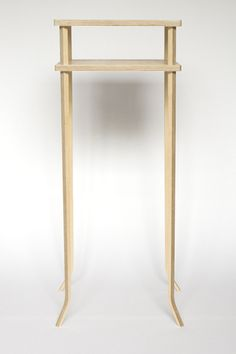Negligible Table.     A minimal table from Birch plywood which is held together by friction, no fixings or glue.