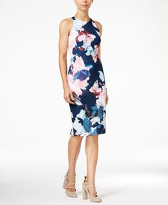 Bar Iii Floral-Print Sheath Dress, Only at Macy's