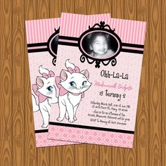 Aristocat's Marie Girl's Birthday Party Invitations. $13.99, via Etsy.
