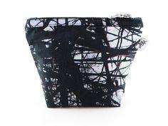 Handmade Thorns Makeup Bag with Chunky Silver Zip II from maxandrosie.co.uk