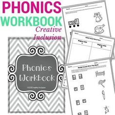 Quick, no-prep printable phonics workbook. Highly visual way for students with autism and with other special needs to learn phonics!