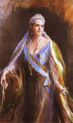 Philip Alexius de László (Hungarian-born British artist, 1869-1937) Queen Marie of Romania, née Princess Marie of Edinburgh