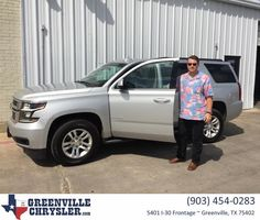 "Greenville Chrysler Jeep Dodge Ram Customer Review  ""Steve helped me buy a 2015 Chevy Tahoe LT. The service was spectacular and genuine. Very Pleased with Steve""  Alan W.  James, https://deliverymaxx.com/DealerReviews.aspx?DealerCode=J122&ReviewId=58053  #Review #DeliveryMAXX #GreenvilleChryslerJeepDodgeRam"
