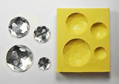 Beveled Gem set DE270  Flexible Silicone Mold  Crafts by MoldShop, $6.99