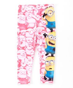 Loving this Pink Despicable Me Leggings - Toddler on #zulily! #zulilyfinds