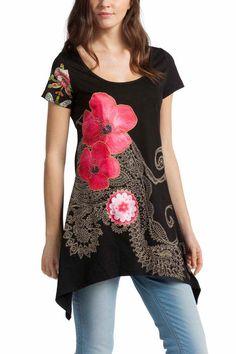 51T24R3_2000 Desigual T-Shirt Glenda, Black