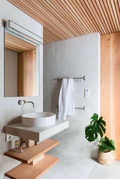 Zones in the bathroom Home Gym Design, House Design, Room Partition Designs, Wood Interiors, Architectural Elements, Contemporary Interior, Decor Interior Design, Interior Ideas, Toilet