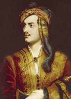 Lord Byron  travelled all over Europe especially in Italy where he lived for 7 years and then joined the Greek War of Independence fighting the Ottoman Empire, for which Greeks revere him as a national hero. He died one year later at age 36 from a fever contracted while in Missolonghi in Greece.