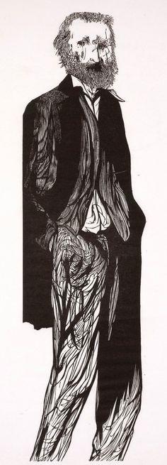 Leonard Baskin : Walt Whitman at Davidson Galleries