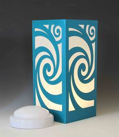 Swirl Laser cut Luminary Table Lamp Centerpiece - by StarrDesign on Etsy Baby Girl Toys, Baby Girl Gifts, Puzzle Store, Wood Craft Patterns, World Decor, Table Lamp Wood, Paper Crafts, Diy Crafts, Puzzles For Kids