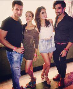 Abt last night #friends #bollywoodnight #dance #music with @indraneilsengupta @vishal.singh786 @thisissurbhi