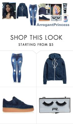 """""""Untitled #204"""" by arrogantprincess on Polyvore featuring H&M, NIKE and POPbeauty"""