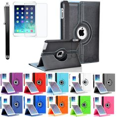 360 Rotating PU Leather Smart Cover Stand Wake/Sleep Case For iPad Air /Air 2 #UnbrandedGeneric