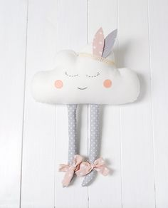 Cloud Pillow Cloud cushion Pillow Cloud Plush Happy Cloud Nursery Decor Nurse gift Feather headband Babyshower gift Nursery Decor girl : Cloud Cloud Pillow Pillow Pillow Cloud Plush Happy by Jobuko Diy Baby Gifts, Diy Gifts For Kids, Baby Girl Gifts, Diy For Girls, Baby Crafts, Cloud Cushion, Cloud Pillow, Cushion Pillow, Pillow Room