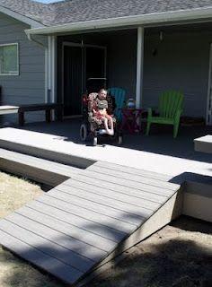 Wheelchair accessible deck