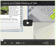 Literacy & Math Ideas: How to do a Close Reading (Free Video Tutorial) Reading Lessons, Reading Resources, Reading Skills, Guided Reading, Teaching Reading, Teaching Ideas, Learning, 6th Grade Reading, Middle School Reading