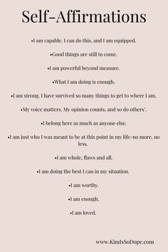 13 Positive Affirmations For The Millennial Woman - KimIsSoDope