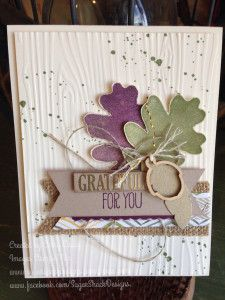 I love this! For All Things Colors used: Blackberry Bliss, Mossy Meadow, Crumb Cake