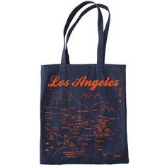 Maptote: Los Angeles Denim Tote #MarthaStewartAmericanMade #ToteBag #americanmadeebaysweeps