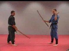 Rick Tew Wooden Sword Bokken Ninjitsu weapon Drills Martial Arts and Ninja Training Camp California - YouTube