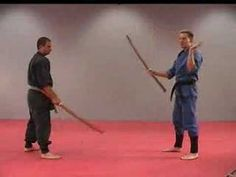 Rick Tew Wooden Sword Bokken Ninjitsu weapon Drills Martial Arts and Ninja Training Camp California - YouTube
