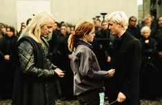 Can we just notice Lucius who's all like: Yeah yeah whatever in love with a mudblood, don't care... How does this muggle thing works again?
