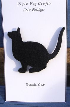 Curious Black Cat Brooch by pixiepegcrafts on Etsy, £5.00