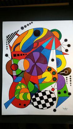 Abstract Face Art, Abstract Geometric Art, Kandinsky Art, Wal Art, Art Plastique, Elementary Art, Canvas Art Prints, Art Lessons, Modern Art