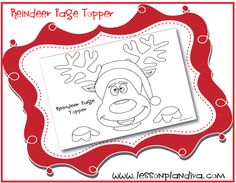 FREE Reindeer page topper!