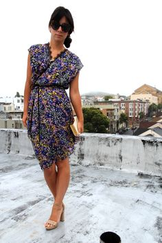 wrappy colorful dress