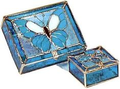 Stained Glass Butterfly Box