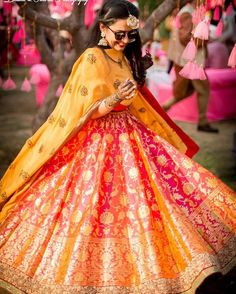 What's not to love about this outfit!  The colours, the design, everything is on point  #photography: @bhumiandsimran • For Vendors: Join Vendor Hub Network and receive updates on collaboration opportunities, invites to vendor only events and webinars, and much more. It's FREE to join. Visit link in bio to join. _______________________________ #IndianWeddingBuzz #indianwedding #indianweddings #indianweddinginspiration #weddinginspiration #realwedding #realindianwedding #indianbride #wedd...
