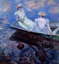 Im Boot, 1887, Öl auf Leinwand