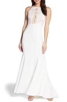 2f9f43597624 Watters Cutout Lace Bodice Wedding Dress #Sponsored , #Affiliate,  #Lace#Cutout