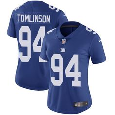 Women's Nike New York Giants #94 Dalvin Tomlinson Limited Royal Blue Team Color NFL Jersey