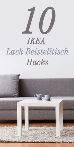 With these 10 IKEA hacks, you can easily repurpose your paint table. - Ikea DIY - The best IKEA hacks all in one place Ikea Hack Lack, Ikea Table Hack, Ikea Hacks, Diy Hacks, Ikea Desk, Ikea Furniture, Repurposed Furniture, Upcycled Home Decor, Diy Home Decor